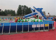 Rectangular Large Outdoor Metal Frame Pool 20*20*1.32m For Swimming
