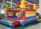 Outdoor PVC Inflatable Jungle Castle Jumping Bouncer Lead Free Double Stitching