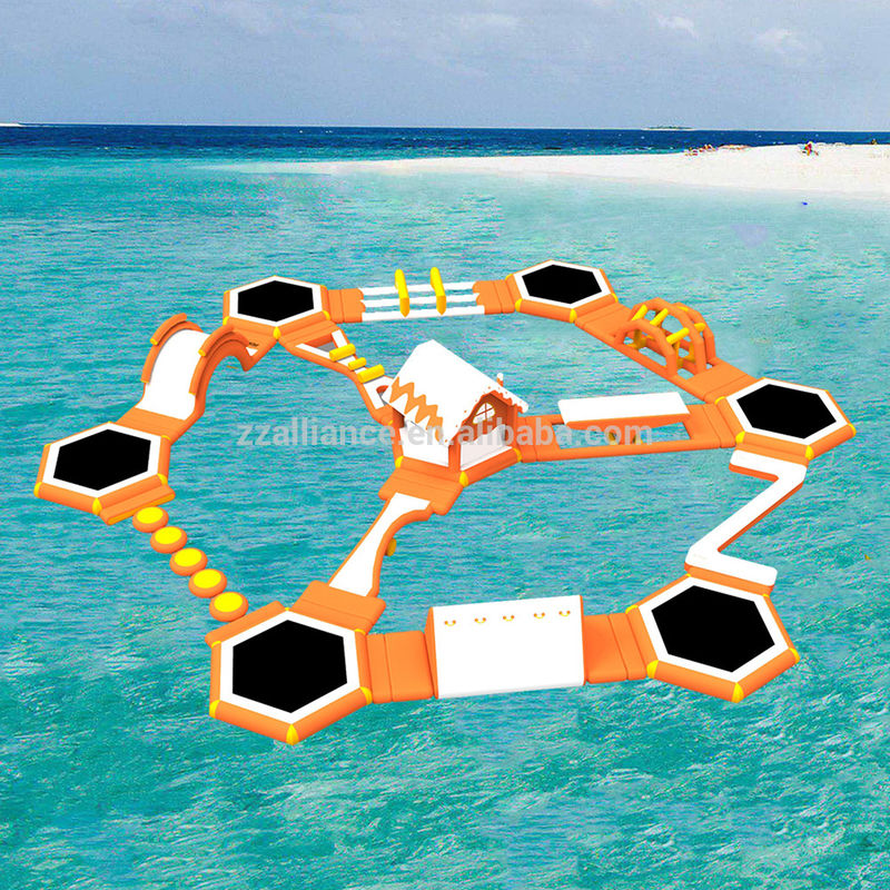 Customized Size Floating Water Park Inflatable Floating Water Slide